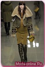 ...Burberry Prorsum представили коллекцию укороченных курток и дубленок.