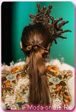 прическа корона из волос