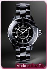 Chanel black ceramic J12 Watch